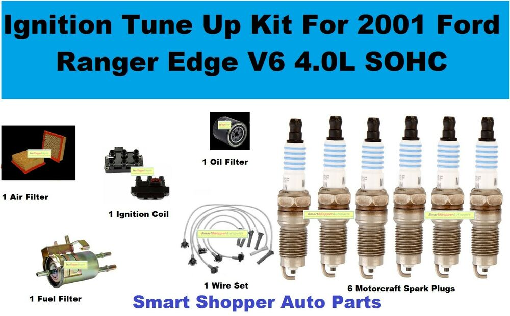 Ignition Tune Up For Ford Ranger Edge V6 40l Air Oil Fuel Filter Rhebay: 2001 Ford Ranger Fuel Filter Diagram At Gmaili.net