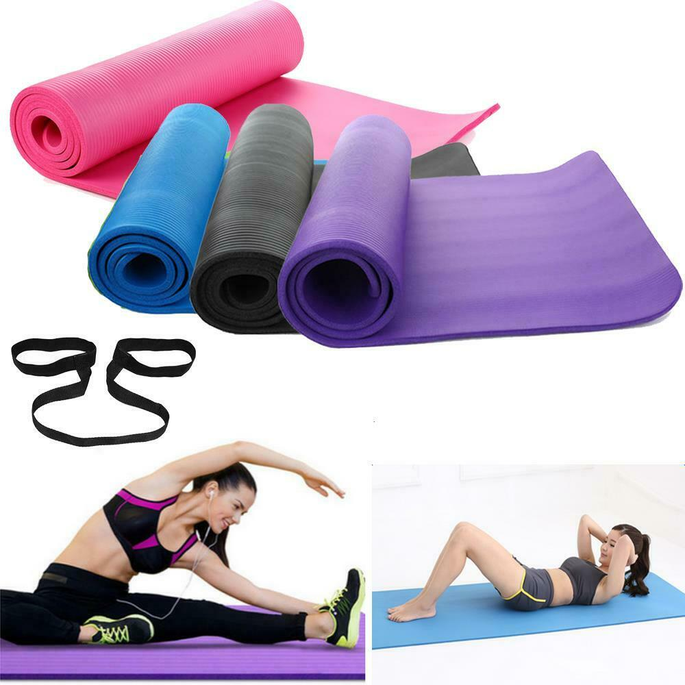 "Durable 72x24x0.6"" 15mm Thick Yoga Mat Nonslip Pad"