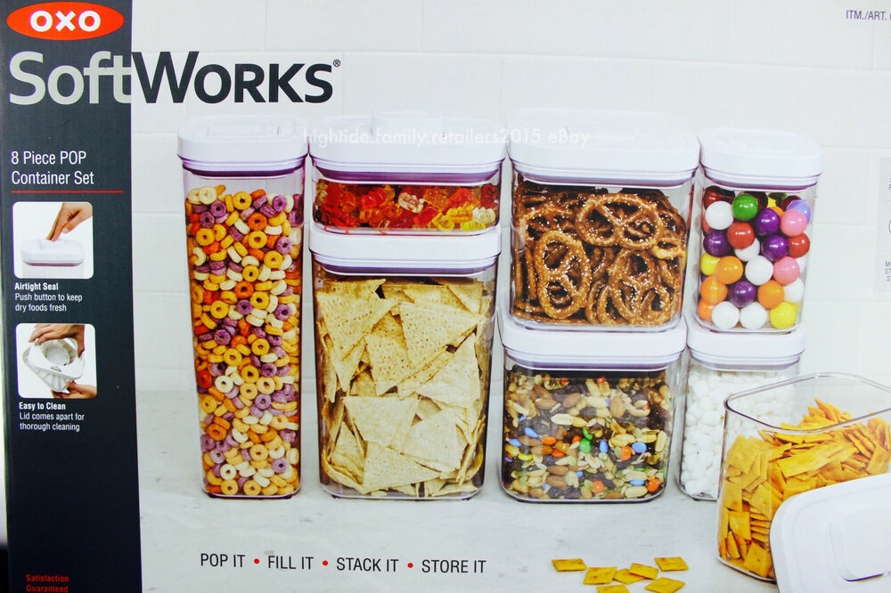 Oxo Softworks Pop Container Set Food Storage Airtight Seal