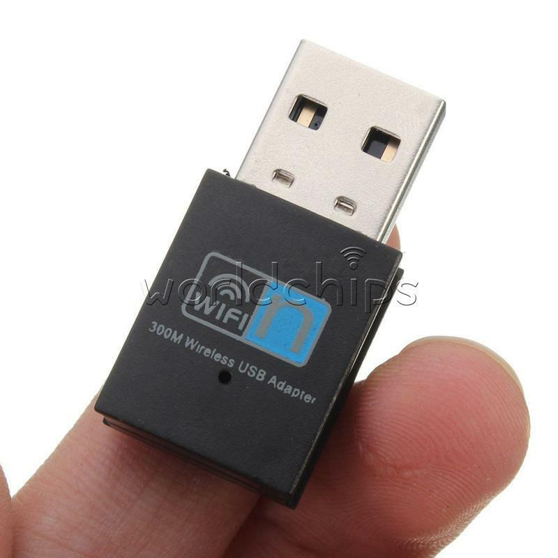 300mbps mini wireless usb wi fi wlan adapter b g n network lan dongle ebay. Black Bedroom Furniture Sets. Home Design Ideas