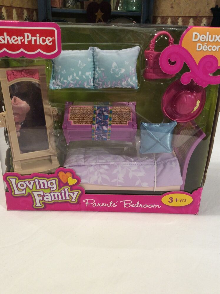 2011 Fisher Price Loving Family Parent 39 S Bedroom Dollhouse