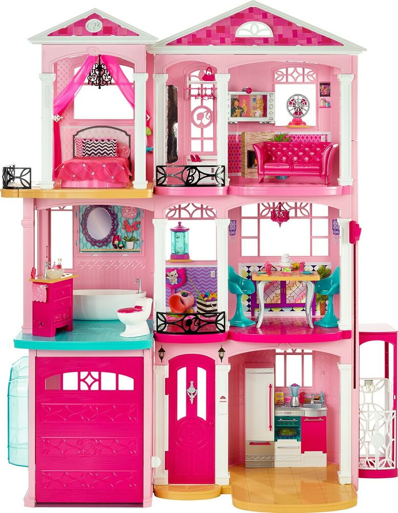Barbie Dream Hous: Barbie Mattel Dream House Doll 3 Story Dollhouse Pink