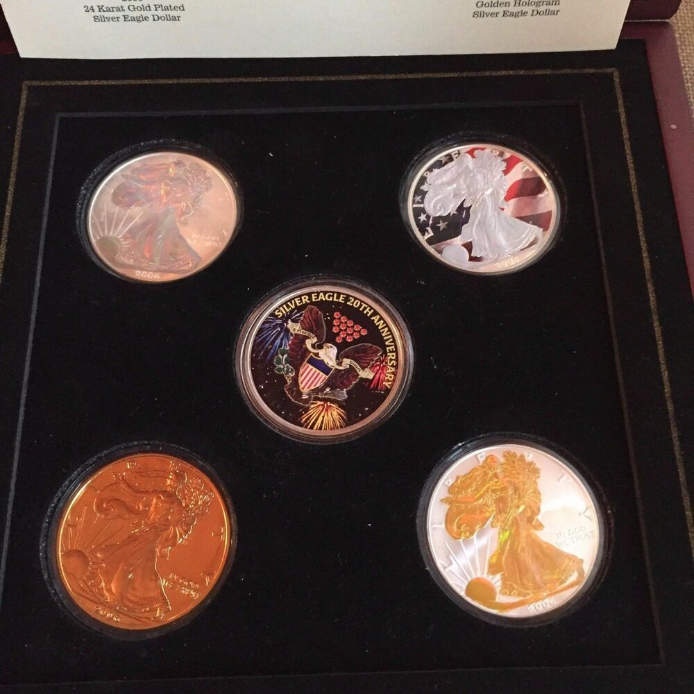 2006 Morgan Mint 20th Anniversary Silver Eagle Set Holo