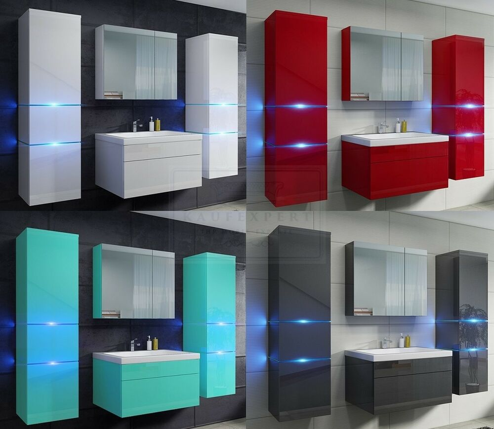 badm bel set prestige echt lackiert wasserabweisend keramik hochglanz led ovp ebay. Black Bedroom Furniture Sets. Home Design Ideas