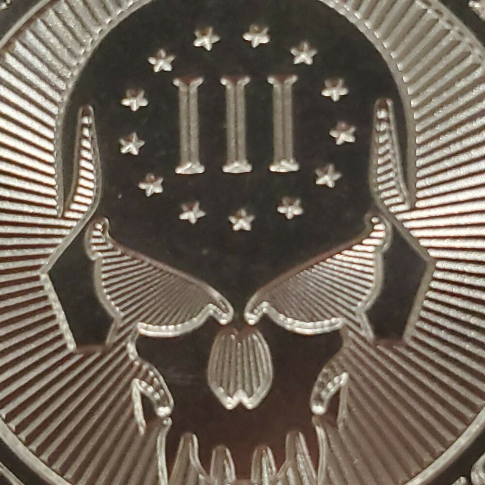 1 Oz 999 Silver Coin Skull 2nd Amendment We Are Everywhere