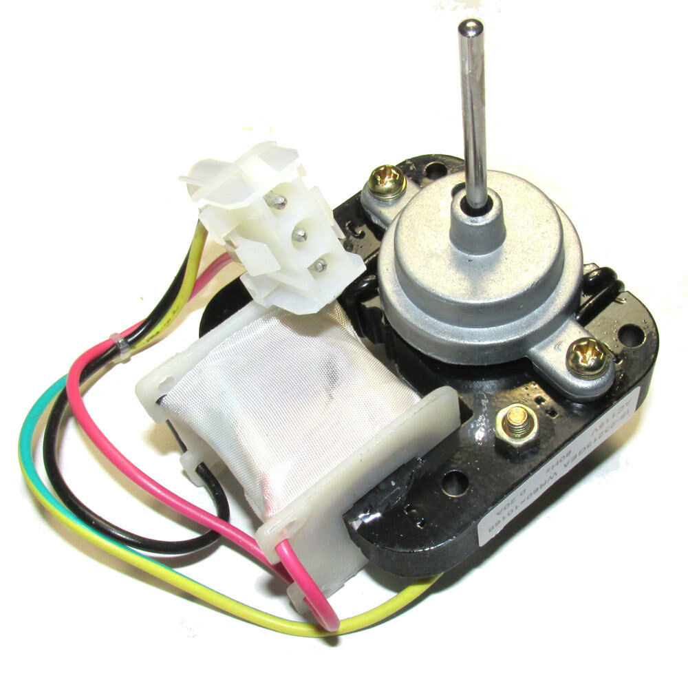 Wr60x10168 refrigerator condenser fan motor for ge ebay for Ge refrigerator condenser fan motor not working
