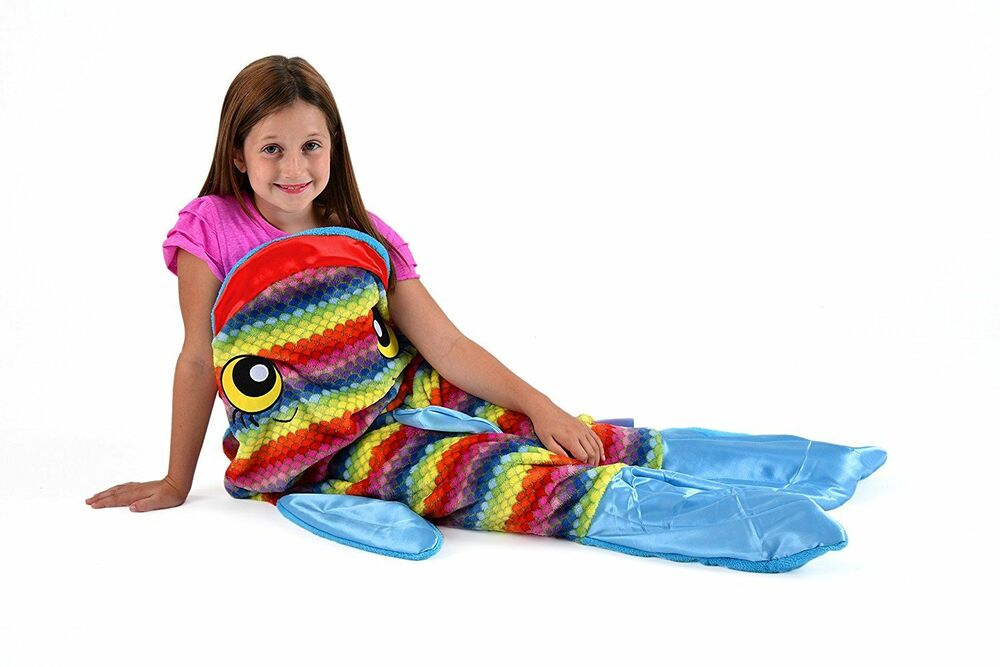 snuggie tails rainbow fish blanket for kids ebay