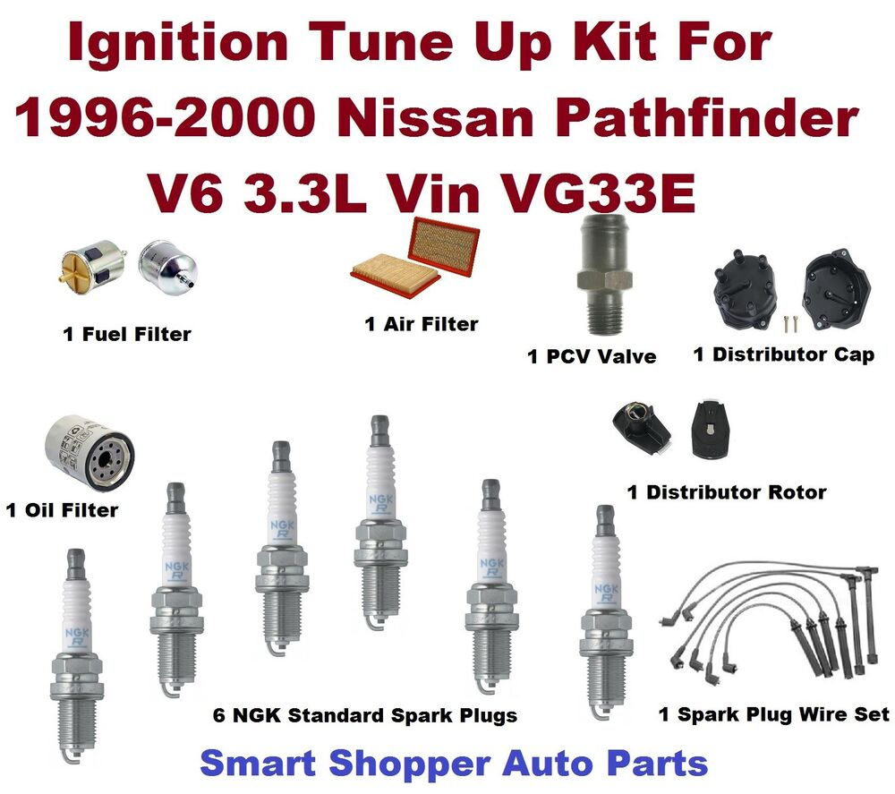 Ignition Tune Up For 1996-2000 Spark Plug, Wire Set, Air, Oil & Fuel Filter,  PCV | eBay