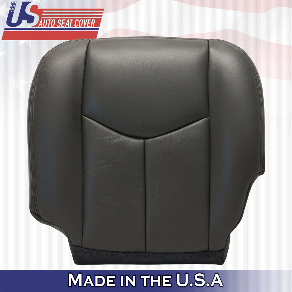 2003 2004 2005 2006 chevy silverado driver bottom vinyl seat cover dark gray 692 ebay. Black Bedroom Furniture Sets. Home Design Ideas