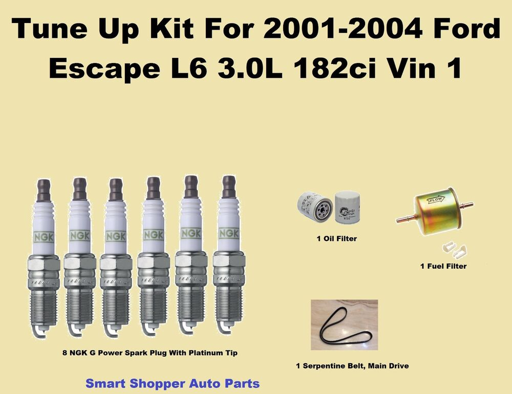 tune up kit for 2001 2004 ford escape l6 serpentine belt. Black Bedroom Furniture Sets. Home Design Ideas