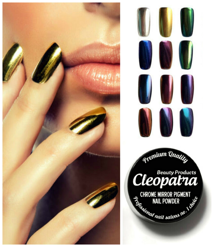 New Trend Mirror Chrome Effect Nail Powder Pigment Dust