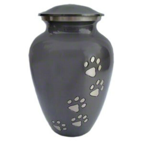 Classic Paw Print Slate Pet Cremation Memorial Urn For Dog