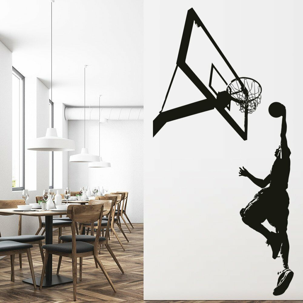 Basketball Slam Dunk Wall Sticker Sport Games Wall Decal ...