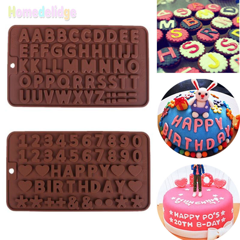 Cake Decorating Number Of Issues : Silicone Alphabet Letter Number Cake Fondant Decorating ...