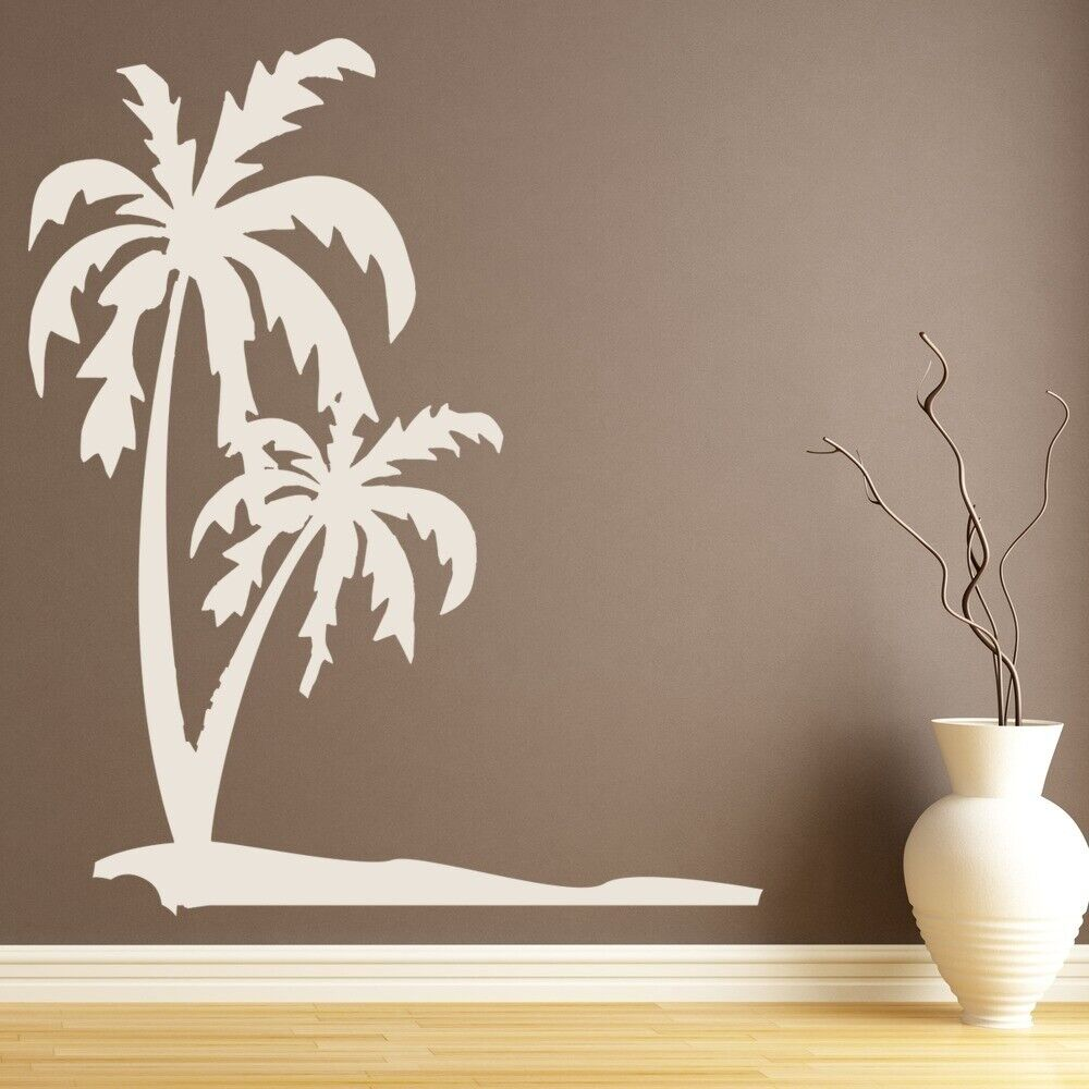 Palm Trees Wall Sticker Tropical Beach Wall Decal Bathroom
