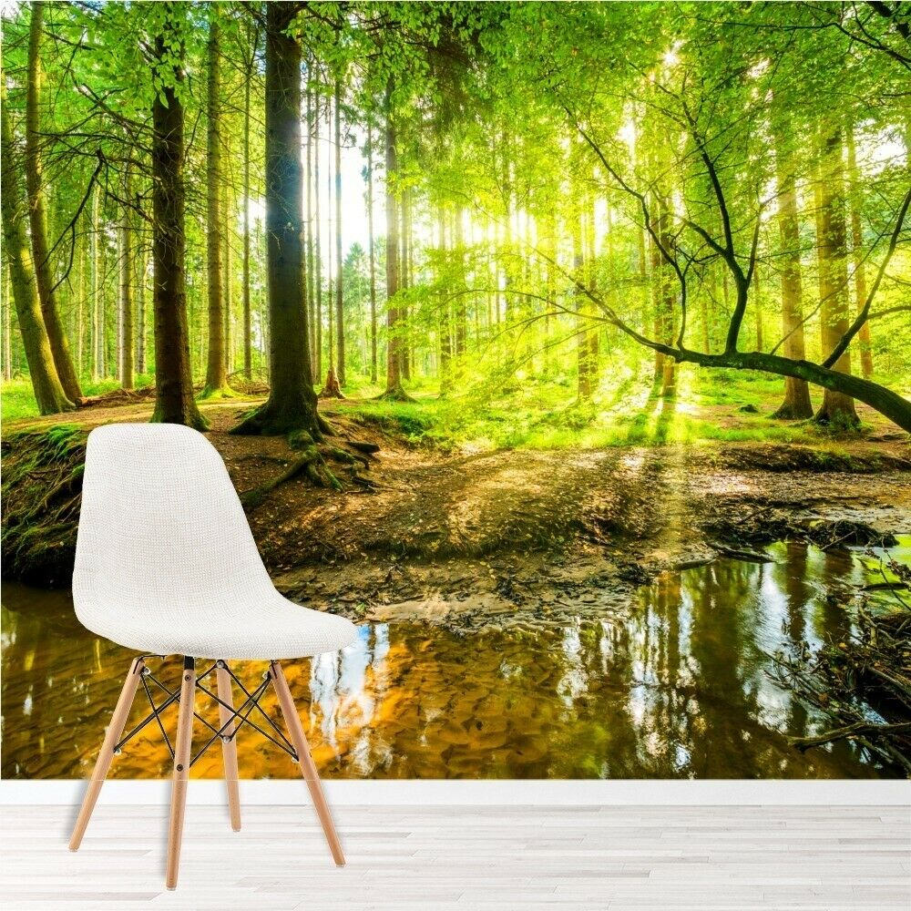 Green Trees Forest Wall Mural Wallpaper Ws 42854 Ebay
