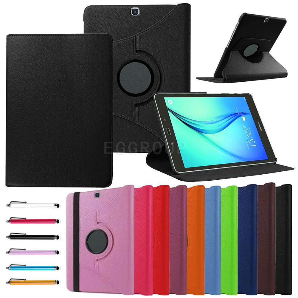 rotating leather cover case for samsung galaxy tablet tab. Black Bedroom Furniture Sets. Home Design Ideas