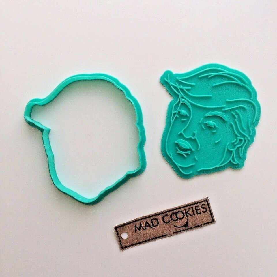 Donald trump cookie cutter fondant mold 3d printed for 3d printer cake decoration