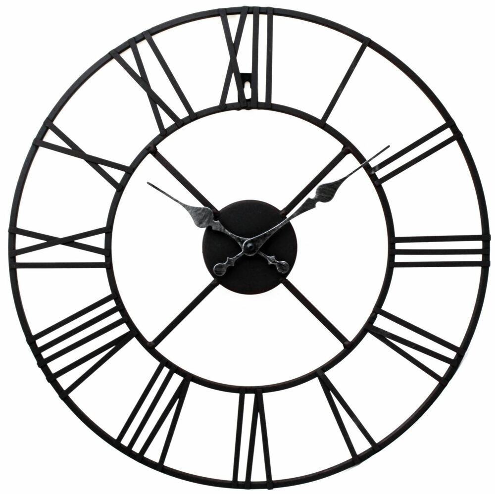 Black Iron Kitchen Clocks