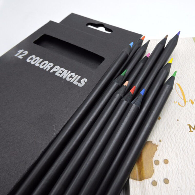 12 Colors Drawing Charcoal Pencils Soft Painting Sketch ...