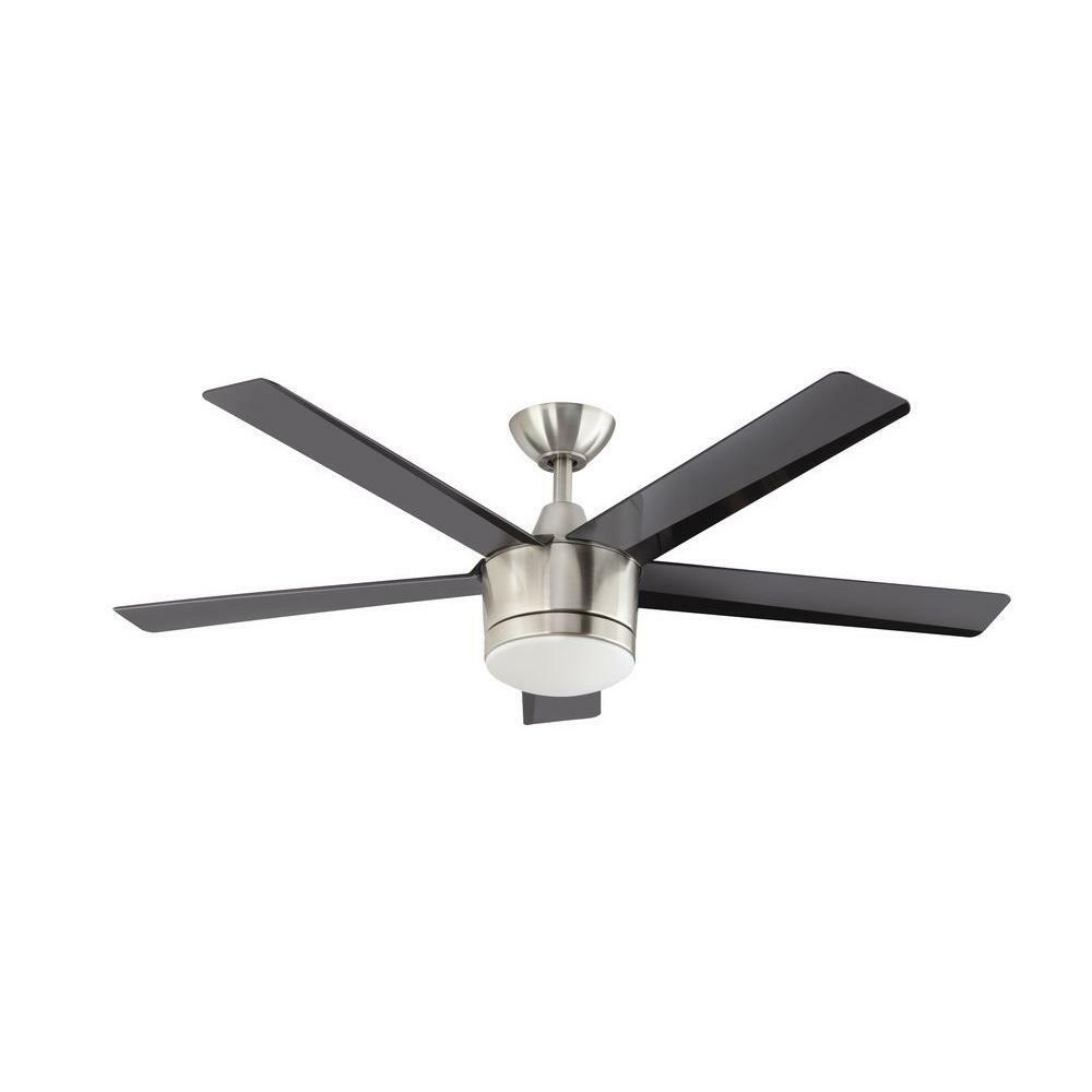 Home Decorators Merwry 52 In Brushed Nickel Led Indoor Ceiling Fan Ebay