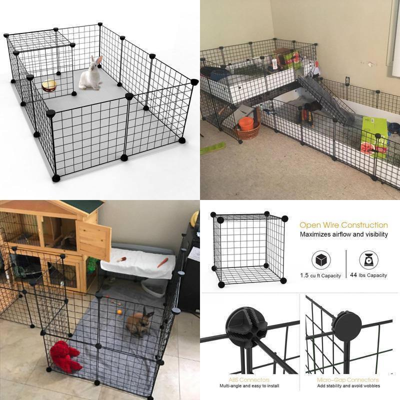 Dog Playpen Pet Exercise Cage Puppy Cat Rabbit Play Pen