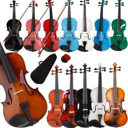 Kyпить New Colorful 4/4 3/4 1/2 1/4 1/8 Size Acoustic Violin Fiddle with Case Bow Rosin на еВаy.соm