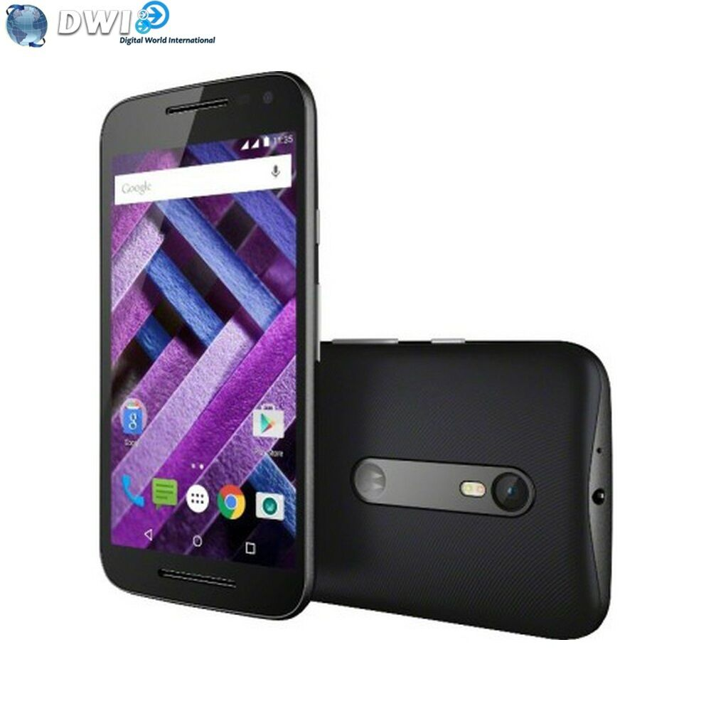 brand new motorola moto g 3rd gen turbo xt1557 16gb 4g lte dual sim black ebay. Black Bedroom Furniture Sets. Home Design Ideas