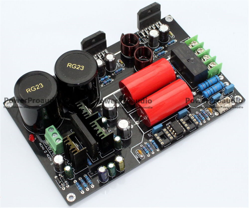 hifi lm3886 cg version power amplifier board 68w 68w 150 96mm ebay. Black Bedroom Furniture Sets. Home Design Ideas