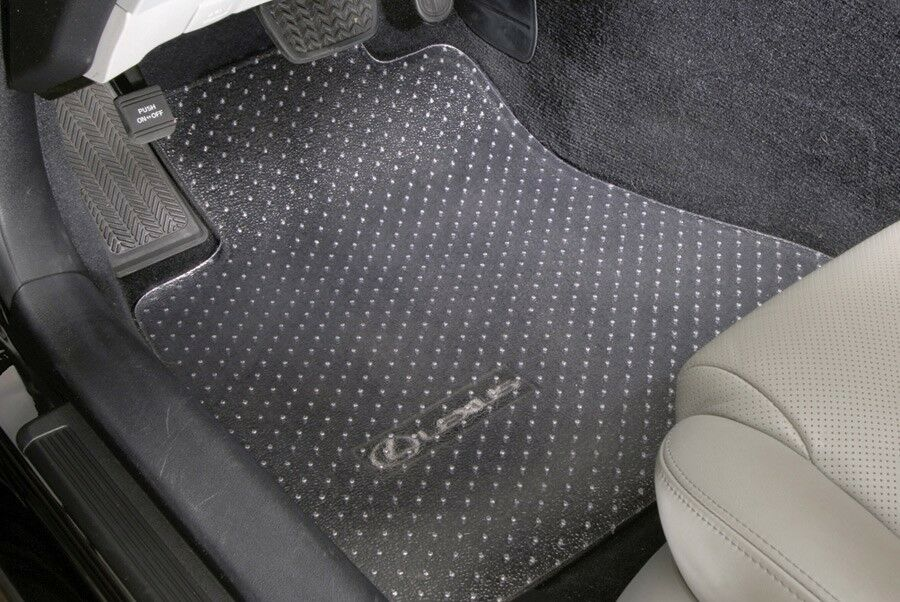 4 Piece Clear Vinyl Heavy Duty Floor Mat Protectors