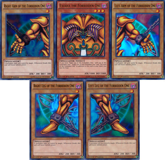 YuGiOh SET of all 5 Exodia cards Yugi's Legendary Decks ...