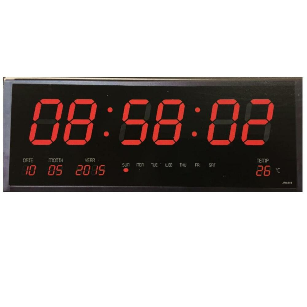 Digital wall clock with time temperature calender big Digital led wall clock