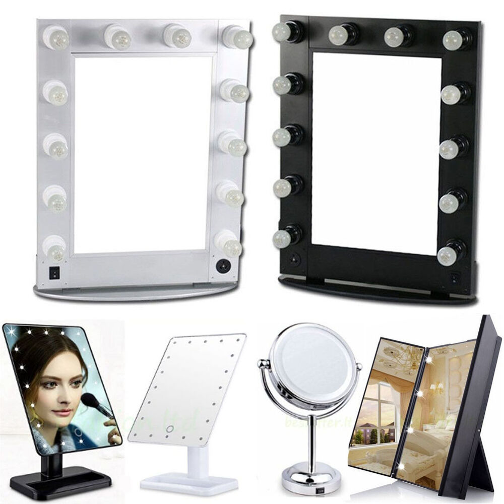 hollywood makeup light mirror cosmetic magnifying led vanity stage desk mirror ebay. Black Bedroom Furniture Sets. Home Design Ideas