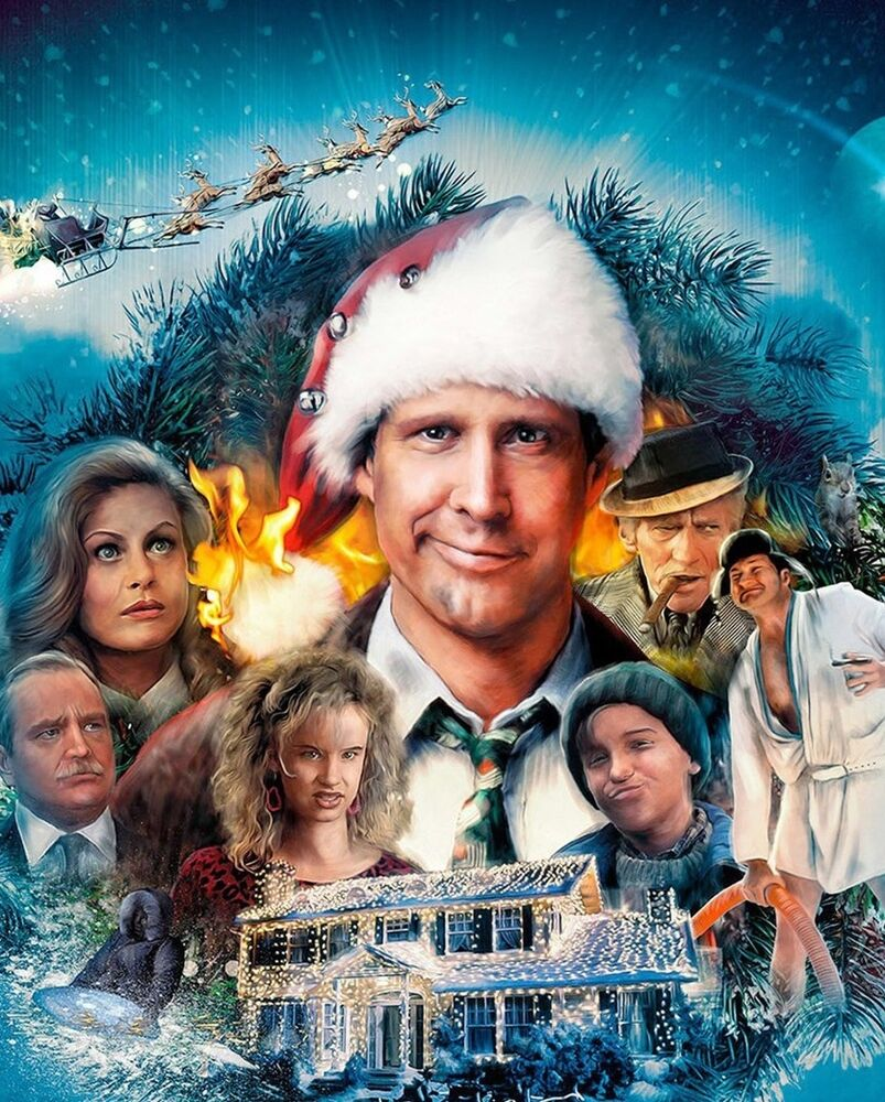 chevy chase clark griswold vacaciones en familia navidad imagen fotogr fica de pel cula 8x10 ebay. Black Bedroom Furniture Sets. Home Design Ideas