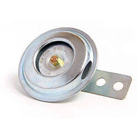Small 12V Horn - 70mm Diameter, Zinc Plated with Mounting Bracket  - WWHEL002