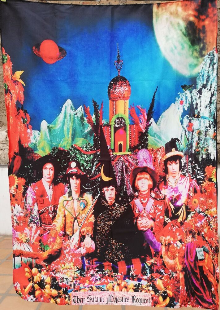 Rolling Stones Their Satanic Majesties Request Flag Poster