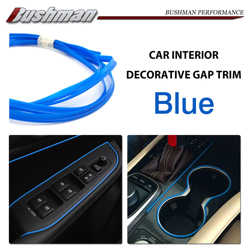 car auto interior decorative gap trim gap moulding edge line blue sold per meter ebay. Black Bedroom Furniture Sets. Home Design Ideas