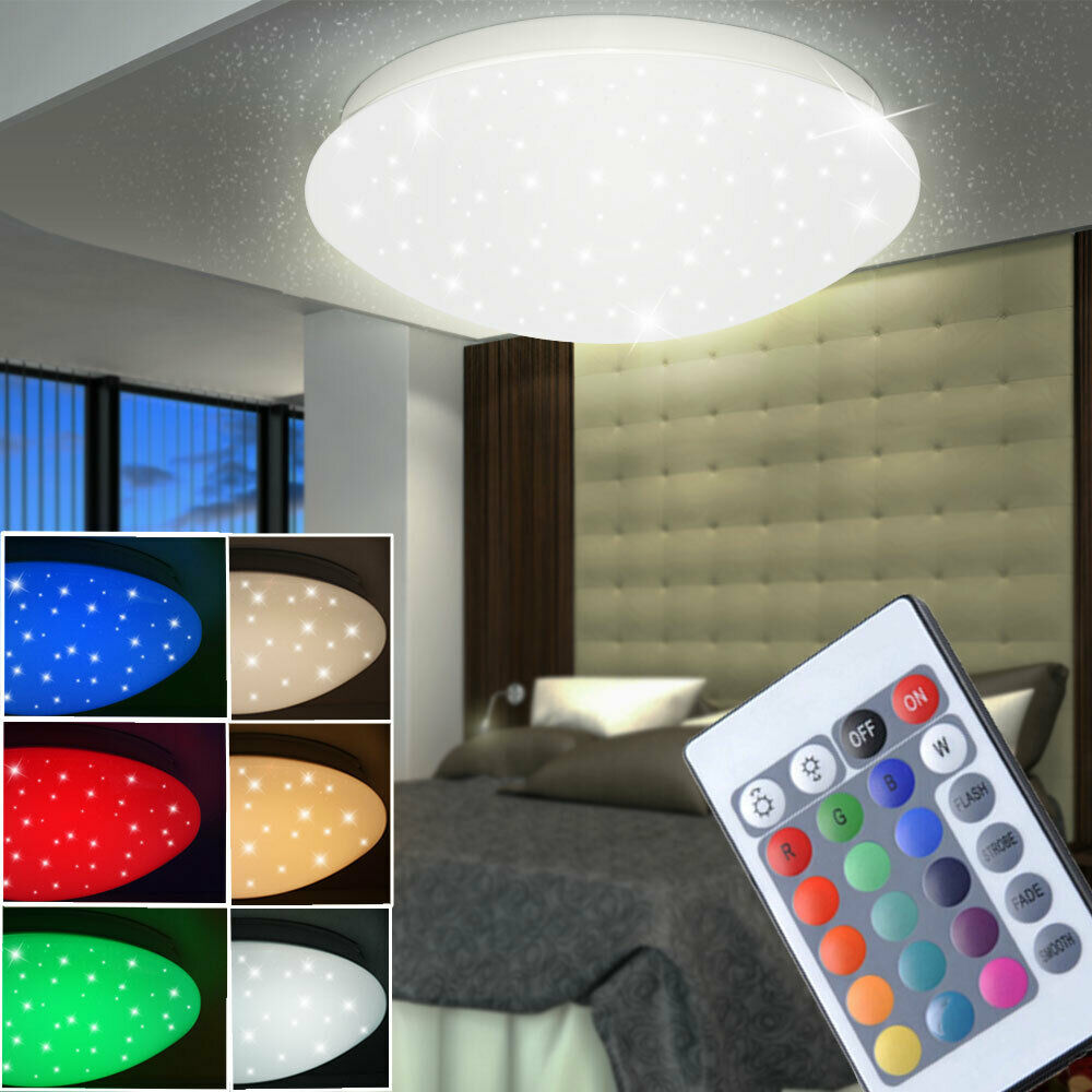 rgb led decken lampe sternen himmel design kinder zimmer. Black Bedroom Furniture Sets. Home Design Ideas
