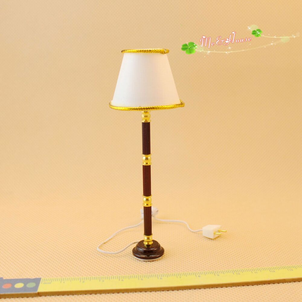1 12 dollhouse traditional standard lamp with cream shade for 12 volt table lamp
