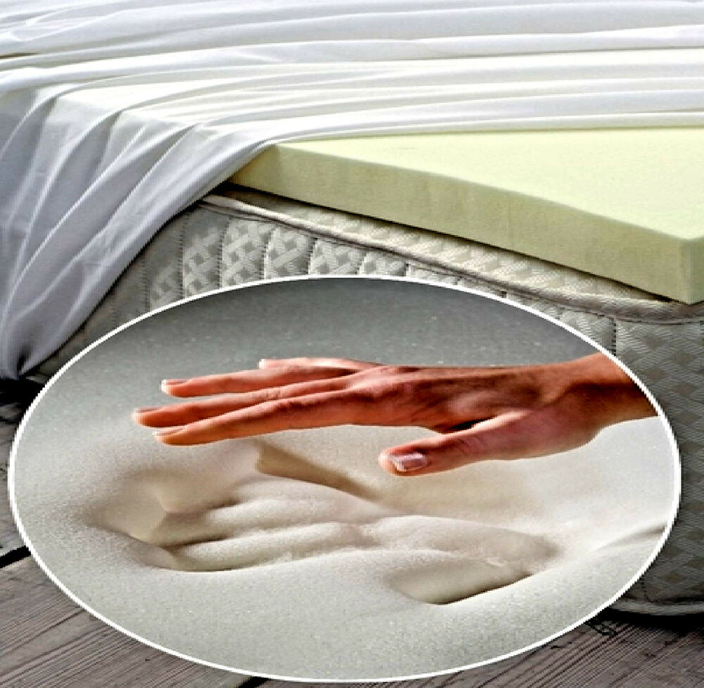 Memory Foam Topper Orthopidic Mattres Cut In Any Size Ebay
