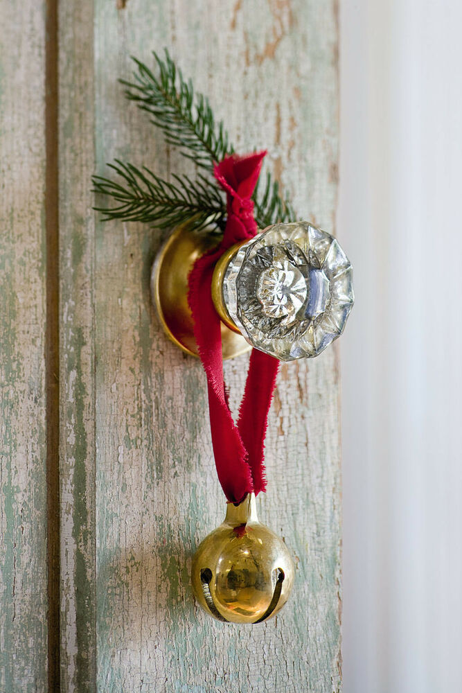Brass Christmas Bell Jingle Bells Santa Sleigh Bells Door
