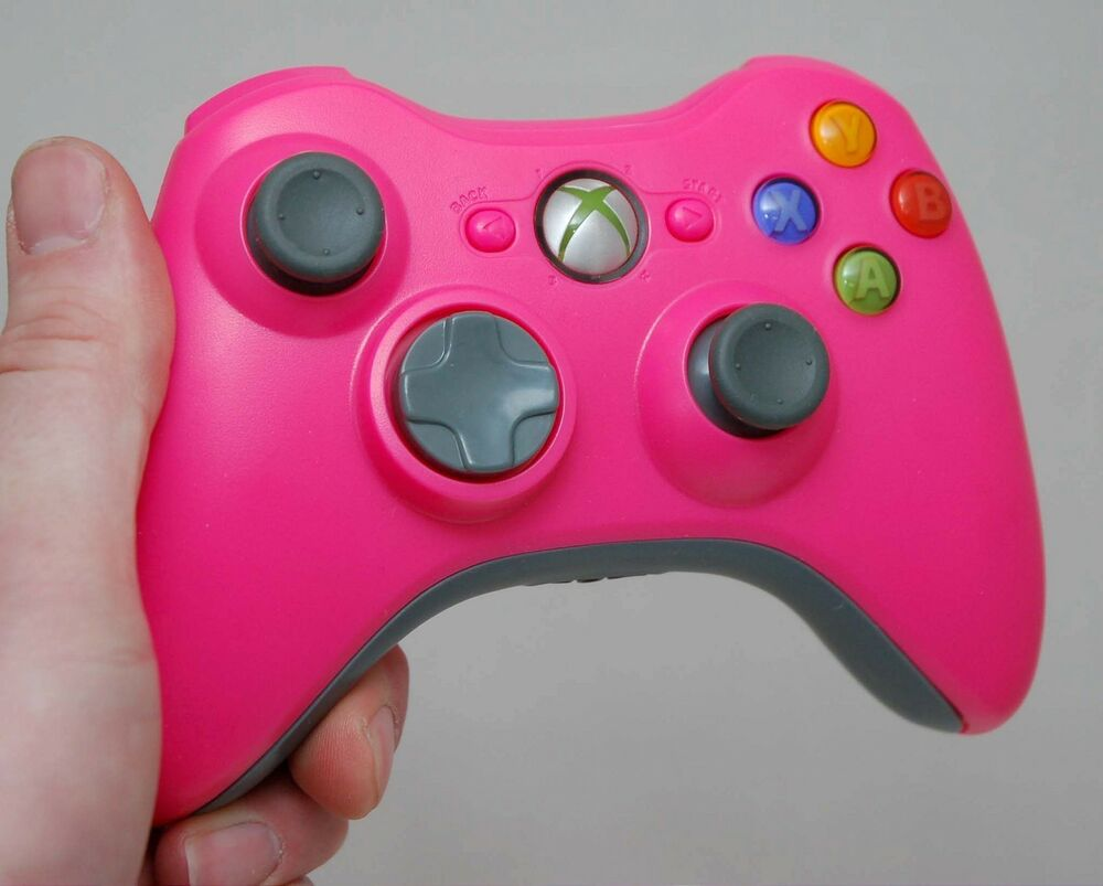 All Xbox 360 Controllers : Genuine microsoft xbox pink gray wireless controller