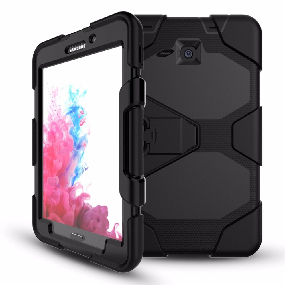hard hybrid armor rugged cover case for samsung galaxy tab. Black Bedroom Furniture Sets. Home Design Ideas