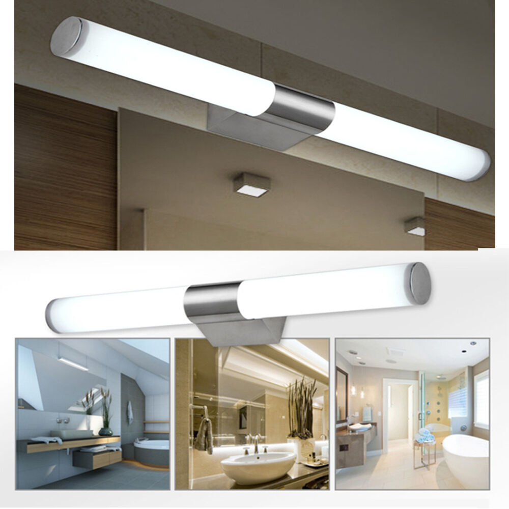 Bathroom Vanity Light Acrylic Led Mirror Front Light Make Up Wall Lamp Fixtures: Modern Bathroom LED Front Mirror Light Toilet Make-up Lamps Wall Light Fixture