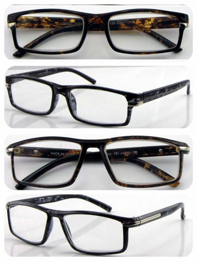 447009e3175 Details about Superb Quality Classic Style Reading Glasses Turtle Shell    Large Frame Design