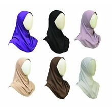 1 piece  New Cotton  Amira Hijab Headscarf Pullover ,under scarf