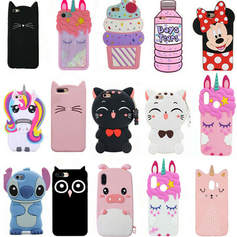 3D Cute Animals Cartoon Soft Silicone Case Cover Back For Samsung ...