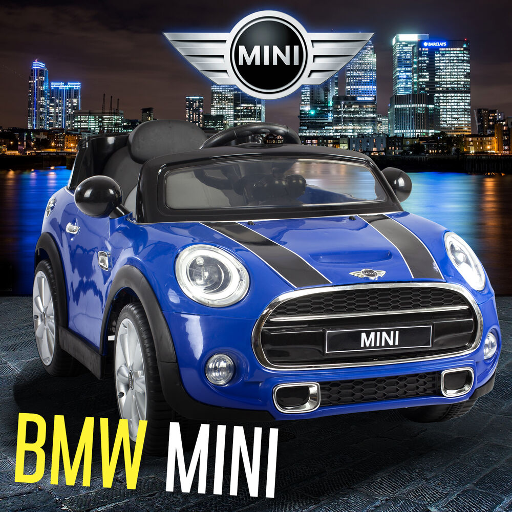 mini cooper s kids ride on car 12v battery 2x motor remote control cars licensed ebay. Black Bedroom Furniture Sets. Home Design Ideas