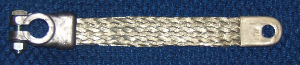 Steel Braided Battery Cable : Inch gauge braided copper ground battery cable strap