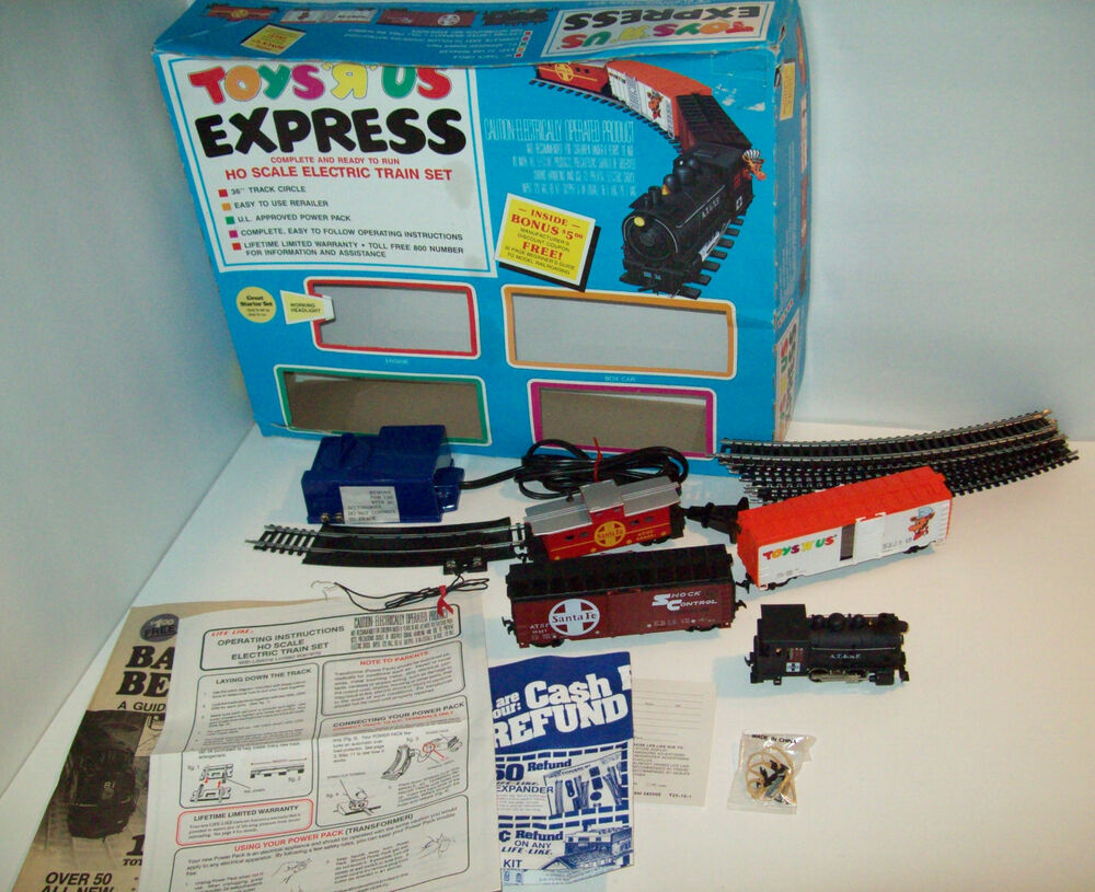 Toys R Us Trains : Vintage toys r us express ho scale electric train set with